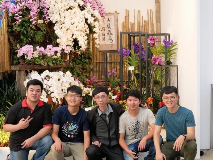 臺灣國際蘭展青農蘭花景觀佈置競賽 興大榮獲第二獎