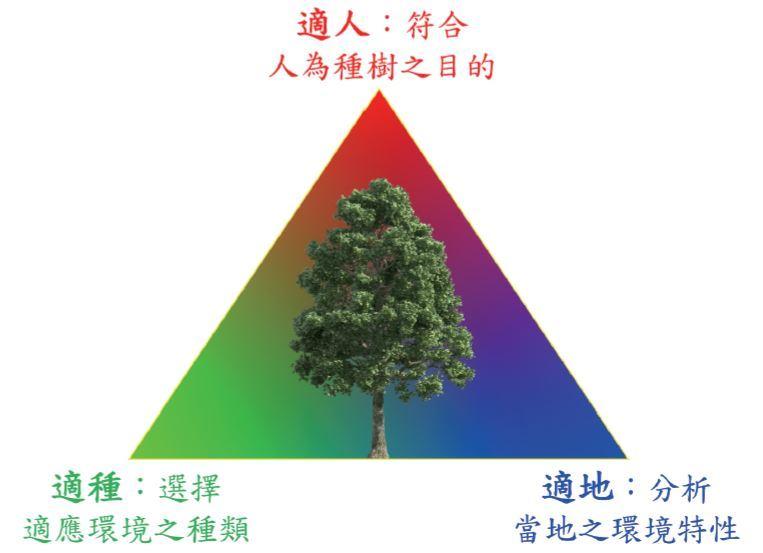 圖三:都市林的建造應充分考慮適地、適種、適人。(邱清安製圖)