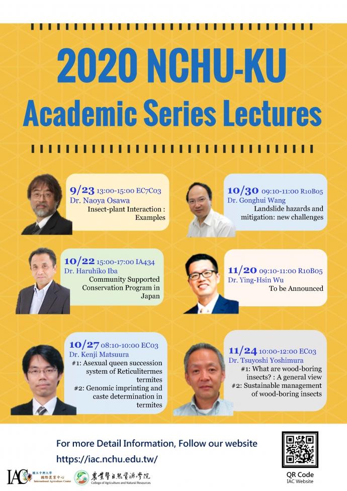 2020 NCHU-KU Academic Series Lectures