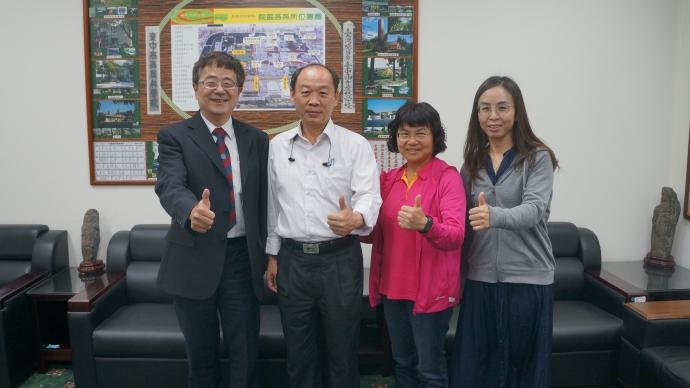 農委會生物科技園區謝勝信主任與林如怡組長率領相關人員來訪