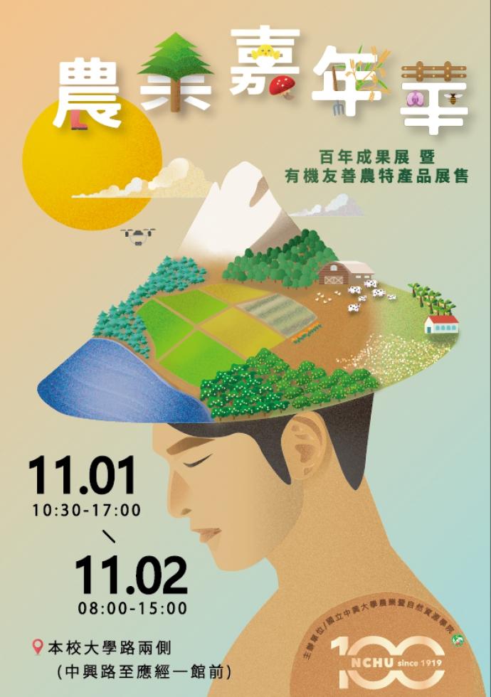 「農業嘉年華-百年成果展暨有機友善農特產品展售」11/1-11/2隆重登場